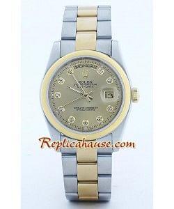 Rolex Réplica Day Date Dos Tonos