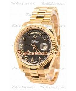 Rolex Day Date II Gold Reloj Suizo de imitación
