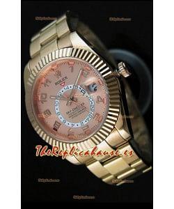 Rolex Sky-Dweller Reloj de Oro Amarillo de 18K Dial en color Salmón con Numerales Arábigos
