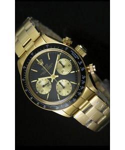 Rolex Daytona 6265 Cosmograph Dial Negro, Caja en Oro