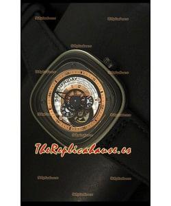 SevenFriday P-32 Movimiento Original Miyota 82S7, Gris y Negro - Calidad Espejo 1:1