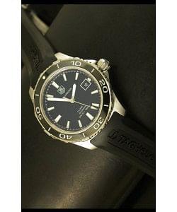 Tag Heuer Aquaracer Calibre 5 Reloj Suizo Dial Negro  - Réplica Escala 1:1