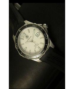 Tag Heuer Aquaracer Calibre 5 Reloj Suizo Dial Blanco  - Réplica Escala 1:1