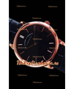 A.Lange Sohne Saxonia Thin Reloj Réplica Suizo Oro Rosado