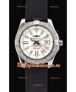 Breitling Avenger II Steel GMT Reloj Suizo a Espejo 1:1 Última Edición - Dial Blanco