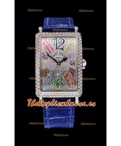 Franck Muller Largo Island Color Dreams Ladies Reloj Suizo en Correa Azul