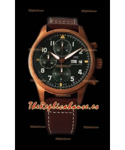 IWC Pilot's Chronograph Spitfire Caja de Bronce - Réplica a Espejo 1:1
