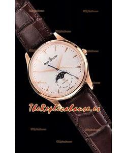 Jaeger LeCoultre Master Ultra Thin Moon Oro Rosado Reloj Réplica a Espejo 1:1
