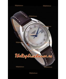 Largoines Primaluna Ladies Pearl Dial Reloj Réplica de Cuarzo Suizo