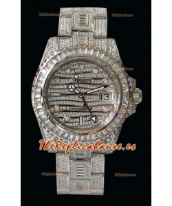 Rolex GMT Masters II Iced out Reloj Réplica Suizo