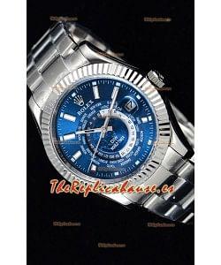 Rolex SkyDweller Reloj Suizo en Caja de Acero - Edición DIW Dial Azul