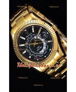 Rolex SkyDweller Reloj Suizo Caja de Oro Amarillo de 18 K - Edición DIW Dial Negro