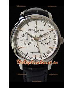 Vacheron Constantin Traditionnelle Day Date Steel Reloj Réplica Suizo
