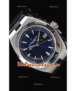 Vacheron Constantin Overseas MoonPhase Reloj Suizo Acero Inoxidable Dial Azul