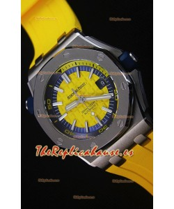Audemars Piguet Royal Oak New Diver Reloj Replica Suizo a escala 1:1 Color Amarillo