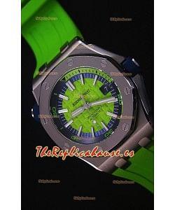 Audemars Piguet Royal Oak New Diver Reloj Replica Suizo a escala 1:1 Color Verde