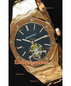 Audemars Piguet Royal Oak Tourbillon 41mm Reloj Extra Fino Dial Azul Oscuro