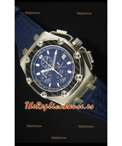 Audemars Piguet Royal Oak Offshore Juan Pablo Montoya Reloj Suizo con Movimiento 3120 Dial Azul - Replica Espejo