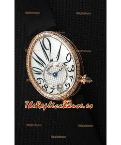 Breguet Reine De Naples Ladies Reloj Réplica Suizo a Espejo 1:1 Oro Rosado