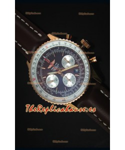Breitling Navitimer 01 Dial Marron en Oro Rosado Reloj Replica Suizo a espejo 1:1