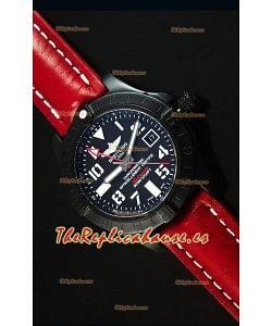 Breitling Chronometre GMT Dial Negro Reloj Replica Suizo caja con Revestimienvo en PVD