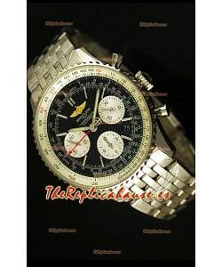 Breitling Navitimer 01 Reloj replica Suizo a Escala 1:1 Actualizado a 2017, Dial Negro