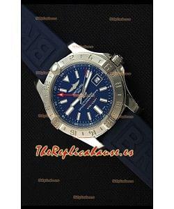 Breitling Avenger II GMT Reloj Replica Suizo a Espejo 1:1 Dial Azul