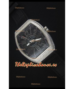Franck Muller Vanguard Reloj Replica Suizo, Caja en Acero Inoxidable