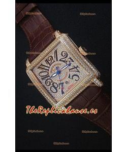 Franck Muller Conquistador King Reloj Replica Suizo Automático en Oro Rosado