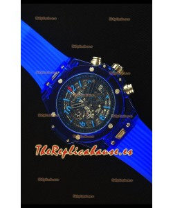Hublot Big Bang Unico Blue Sapphire Reloj Replica de Cuarzo 45MM