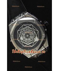 Hublot Big Bang Sang Bleu 45MM Reloj Réplica Suizo en Acero Inoxidable