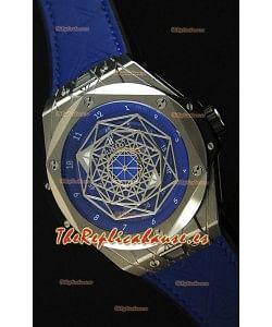 Hublot Big Bang Sang Bleu 45MM Reloj Réplica Suizo de Acero Inoxidable Dial Azul