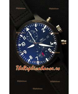IWC Pilot's Top Gun Chronograph IW389001 1:1 Caja en Cerámica Reloj Réplica Última versión