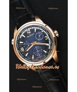 Jaeger-LeCoultre Polaris Geographic Reloj Réplica Suizo en Oro Rosado - 904847J