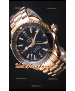 Omega Seamaster Planet Ocean 43.5MM GMT Oro Rosado Reloj Replica a Espejo 1:1 43.5MM