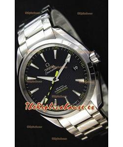 Omega Master Co-Axial Aqua Terra 15,000 Gauss Dial Negro Réplica a Espejo 1:1