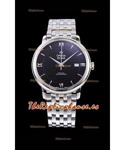 Omega De Ville Prestige Co-Axial 36.8MM Dial color Negro Reloj Réplica Suizo a Espejo 1:1