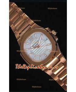Patek Philippe Ladies Nautilus Reloj de Oro Rosado 36MM