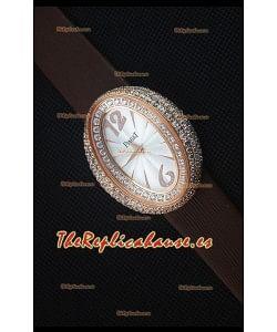 Piaget Limelight Magic Hour Reloj de Cuarzo Suizo Caja en Acero con Correa Marrón
