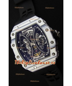 Richard Mille RM53-01 Pablo Mac Donough Caja de Carbón color Blanco Reloj Réplica Suizo