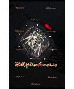 Richard Mille RM027 Tourbillon Reloj Suizo Edición Rafael Nadal en caja con Revestimiento PVD