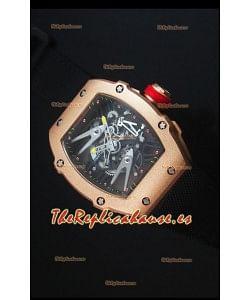 Richard Mille RM027 Tourbillon Reloj Suizo Edición Rafael Nadal Caja en Oro Rosado