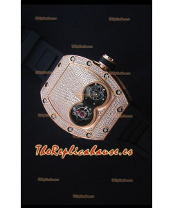 Richard Mille RM053 Tourbillon Pablo Mac Donough Reloj Replica Suizo Caja en Oro Rosado