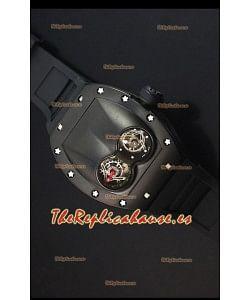 Richard Mille RM053 Tourbillon Pablo Mac Donough Reloj Replica Suizo Caja con Revestimiento PVD Correa Negra
