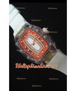 Richard Mille RM07-02 Sapphir Ladies Reloj Replica Suizo Dial en Blanco Perla