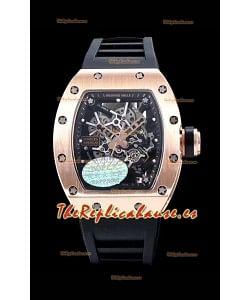 Richard Mille RM035 AMERICAS Reloj Réplica en Oro Rosado de 18K Correa Negra
