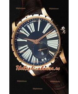 Roger Dubuis Excalibur RDDBEX0587 Oro Rosado Dial Gris Reloj Réplica Suizo