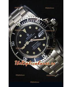Rolex Submariner 1680 Edición Vintage Reloj con Movimiento Japonés