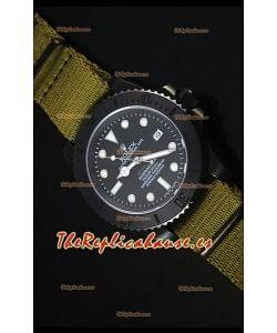 Rolex Submariner Stealth MK IV PVD Reloj Replica Suizo Marcadores de Hora Blancos
