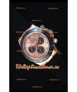 Rolex Daytona 116515 Everose Reloj Replica a Espejo 1:1 Caja y Dial de Oro Rosado